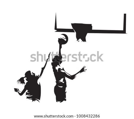 Female Basketball Player Silhouette - Download Free Vector Art ... 706e1e58a5