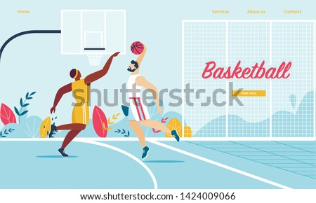 basketball players in action