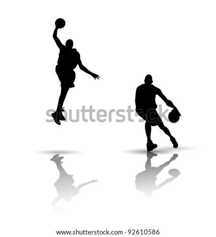 Basketball players Silhouette