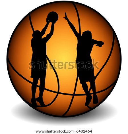 basketball playrs on the ball backgrouns