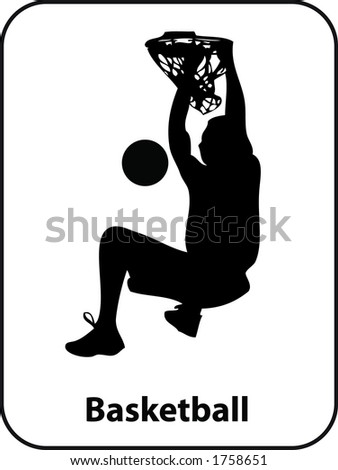 Basketball Slam dunk Sport Sign in Vector Format