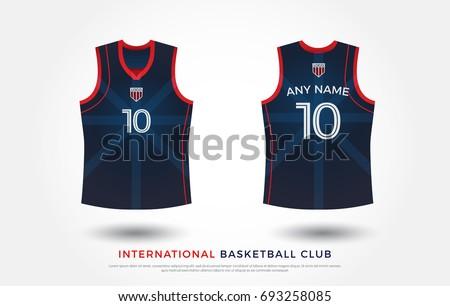 ae75e61d9 basketball t-shirt design uniform set of kit. basketball jersey template.  red and