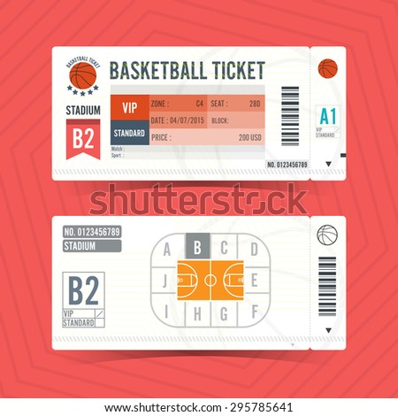basketball ticket card modern