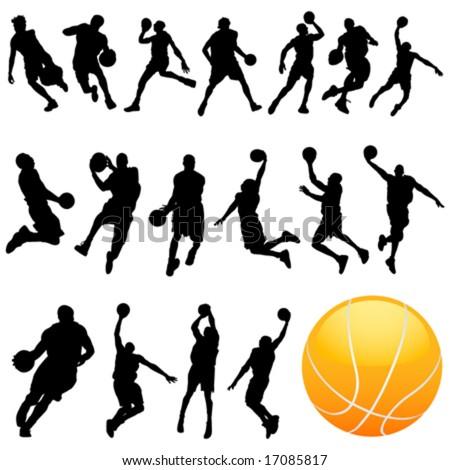 basketball vector set - stock vector