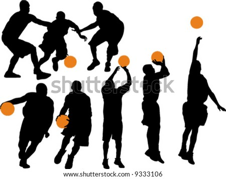 Basketball Vector Silhouettes 1
