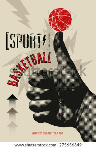 basketball vintage grunge style