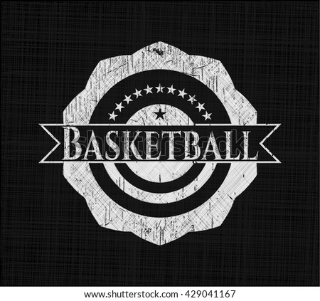 Basketball with chalkboard texture