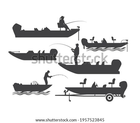 Bass Boat vector File, Bass Fishing and Gone Fishing, Fishing Boat, Fishing Cut file