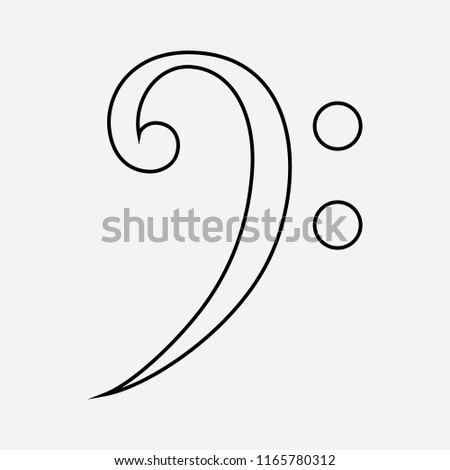 Bass clef icon line element. Vector illustration of bass clef icon line isolated on clean background for your web mobile app logo design.