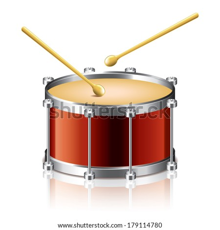 bass drum vector isolated on