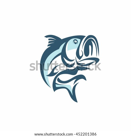 Shutterstock Bass Fish Vector On A White Background. Bass Fish Vector