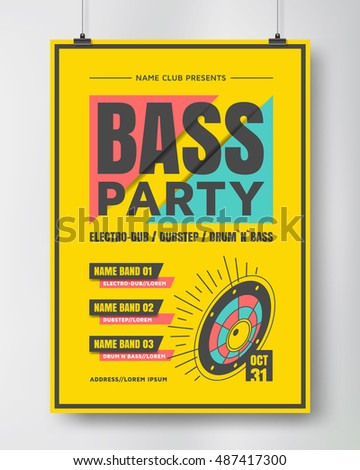 bass party poster  electronic