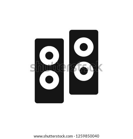 bass stereo vector icon