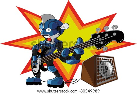 bassist robot. 