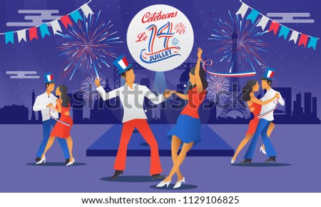 bastile day greeting card with