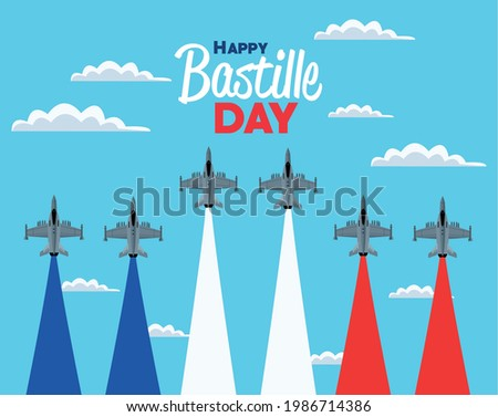 bastille day card with air force