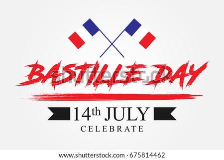 Bastille day greeting template vector download free vector art bastille day celebrate vintage grunge perfect for advertising poster or greeting card m4hsunfo