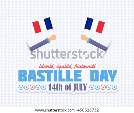 Happy bastille day download free vector art stock graphics images bastille day theme greeting card vector design text m4hsunfo