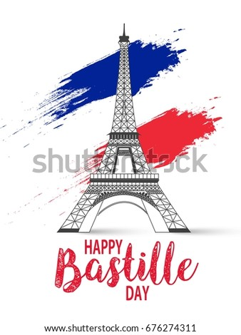 Bastille day. Vector background.