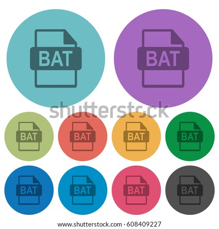 bat file format darker flat