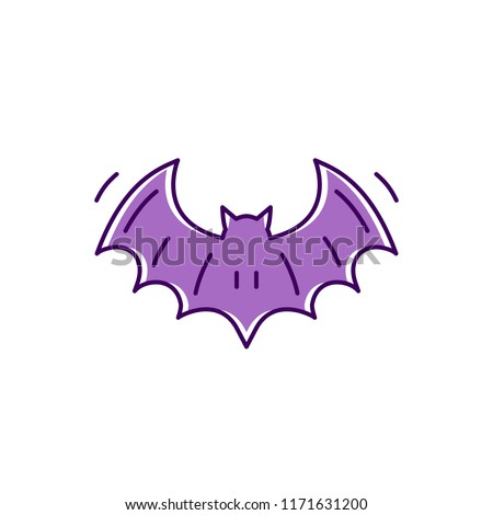 bat icon  colorful flat