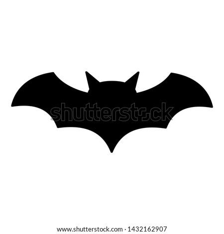 bat icon  silhouette vector