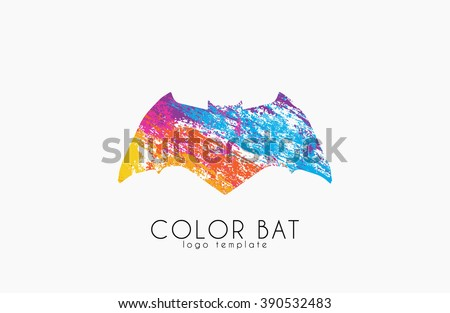 bat logo color bat creative