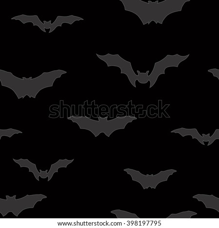 bat silhouette seamless pattern