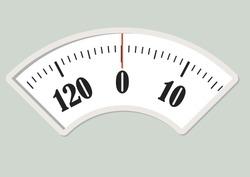 Bath scale dial. Measurement instrument for a diet control