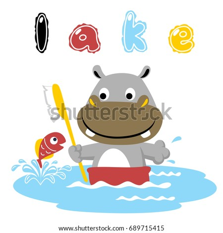 bath time in the lake  vector