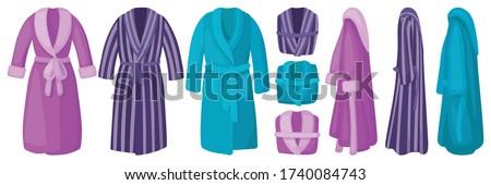 Bathrobe isolated cartoon set icon. Vector illustration bath robe on white background. Vector cartoon set icon bathrobe. Stock foto ©