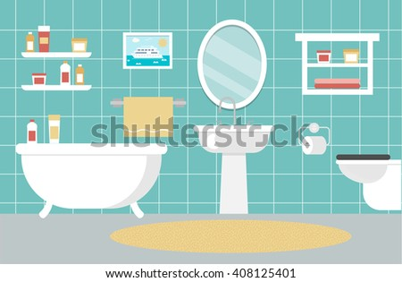 bathroom interior design with