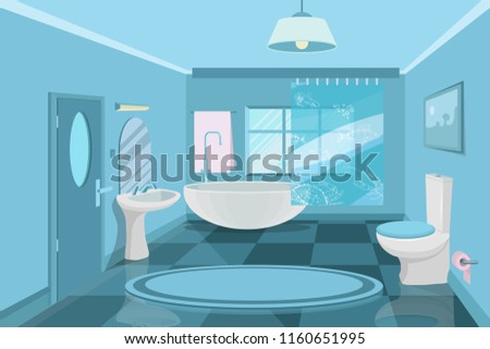 bathroom interior modern  3d