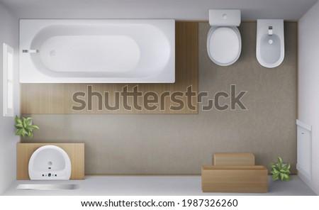 bathroom interior top view