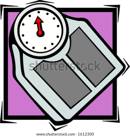 Bathroom Scales on Bathroom Personal Weight Scale Stock Vector 1612300   Shutterstock
