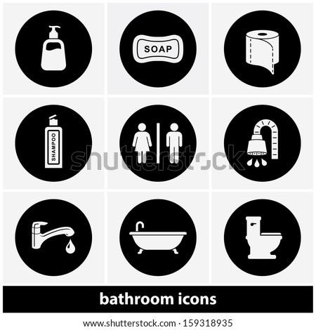 Bathroom / Restroom Icon Set