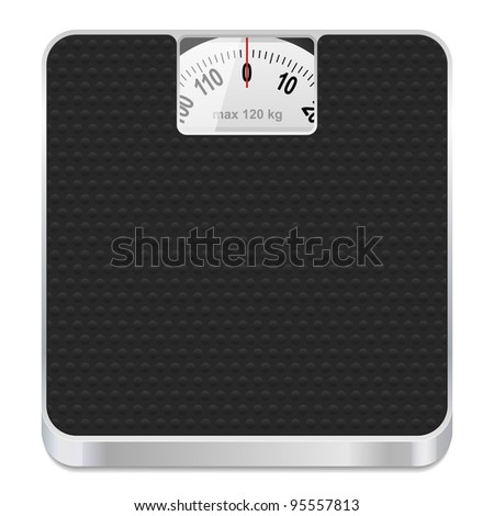 Bathroom scale icon. Vector illustration.