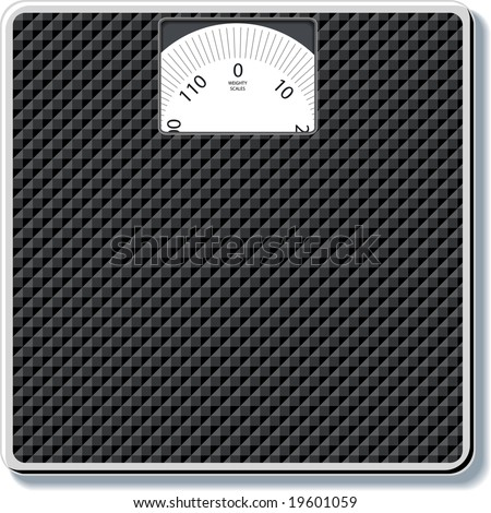bathroom scales - stock vector