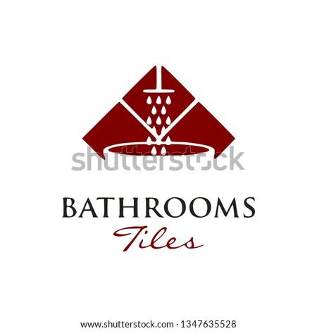 bathroom tile logo design