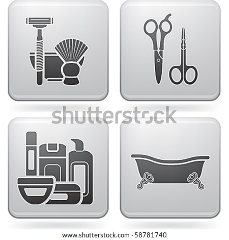 Bathroom utensils   stock vector