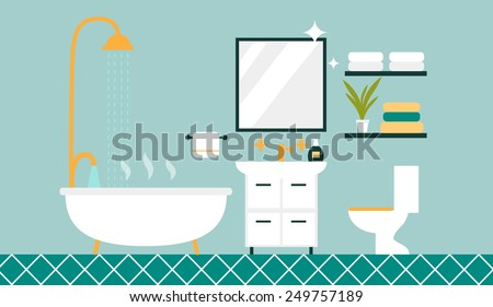 bathroom with furniture and