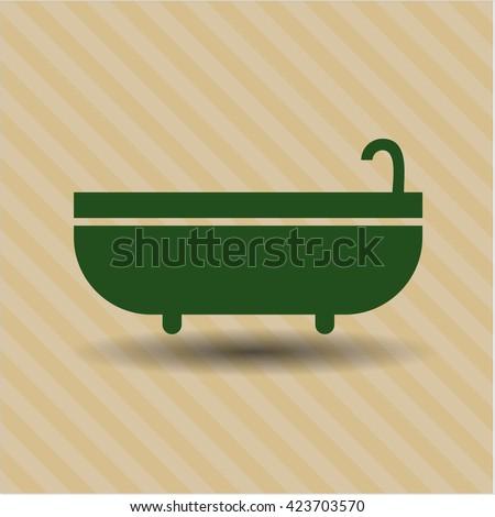 bathtub icon vector symbol flat eps jpg app web concept website