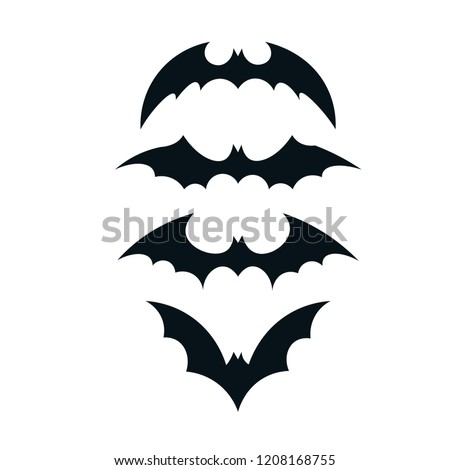 batman icon bat set icon