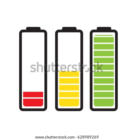 Royalty Free Battery Load Illustration Isolated On