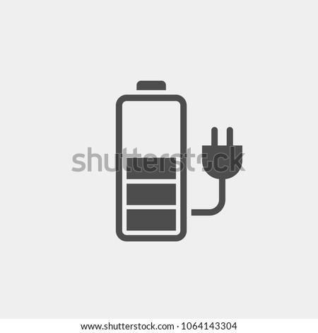 Battery charge flat vector icon Stockfoto ©