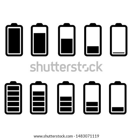 Battery charge icon vector. indicator battery illustration symbol. accumulator logo.