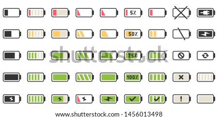 Illustration of battery status icon - Download Free Vectors