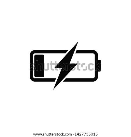 battery charger icon vector logo Stockfoto ©