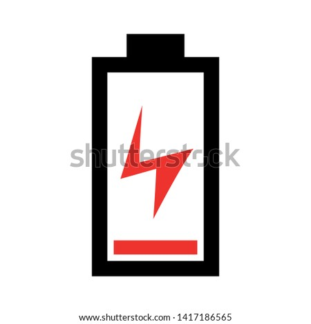 Battery charging flat icon. Battery level indicator. Status. Battery icon. Electric battery vector