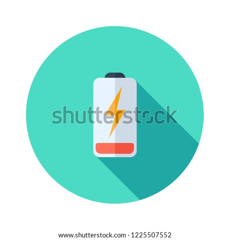 Battery charging flat icon. Battery level indicator. Status. Battery icons. Electric battery vector